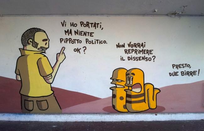 Vignette per murales, la satira di Rouge