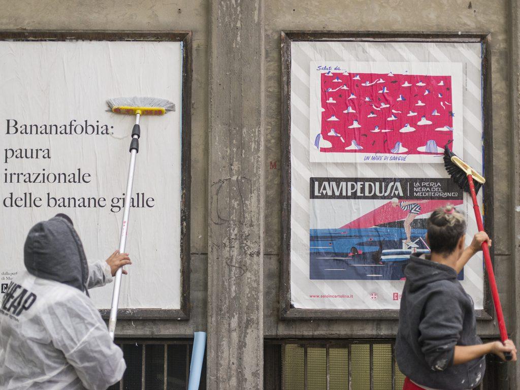 """CHEAP e gli artisti di Solo in cartolina per il progetto """"Saluti dal Mar Mediterraneo"""""""