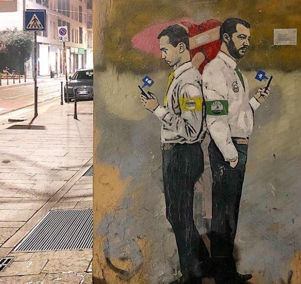Salvini e Di Maio, Gattuso e Spalletti, Ronaldo e Ferragni: TvBoy è tornato a Milano