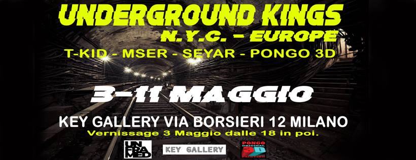 Alla KeyGallery apre Writing Collection – Underground Kings: l'intervista a Pongo