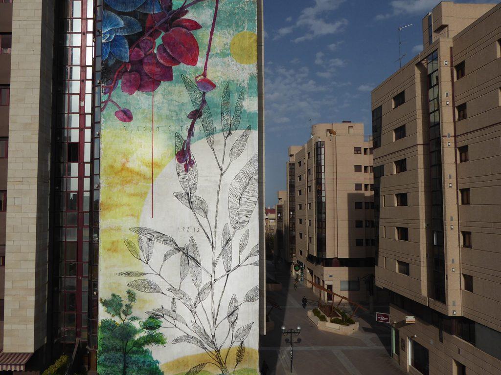 A Murcia è arrivata la primavera: l'intervento di Fabio Petani per lo Street Art Primavera Festival