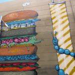 Un XXXL Panta Burger all'Athens Street Art Festival e tante altre novità sul piatto di Mr Fijodor