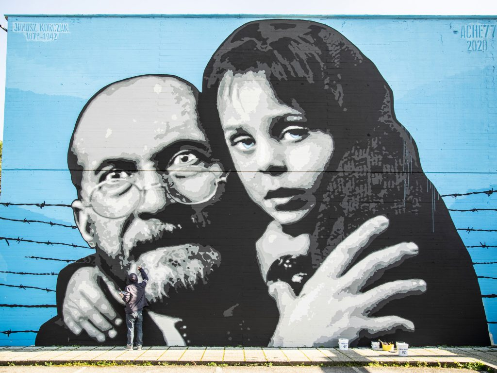 A Firenze Ache77 e Street Levels Gallery ricordano Janusz Korczak