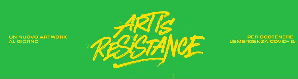 Art is Resistance, racconto e asta benefica a opera di Collater.al