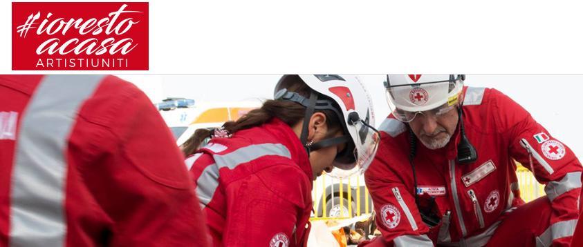 Il progetto #iorestoacasaArtistiUniti, tra t-shirt e felpe a sostegno della Croce Rossa Italiana